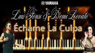 Luis Fonsi, Demi Lovato - Échame La Culpa - Piano Tutorial with Chords, Cover & Sheet music