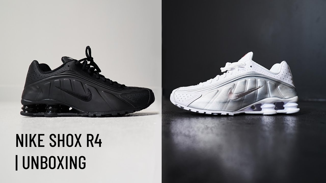 promo code 79cba 9ecf9 Unboxing This Week s Nike Shox R4  Triple Black  And  White Metallic  Silver    The Sole Supplier