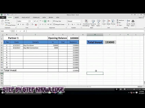 balance maintain sheet create in excel how to create a balance