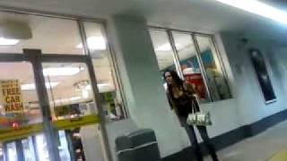 Drunk Couple Arguing at Gas Station