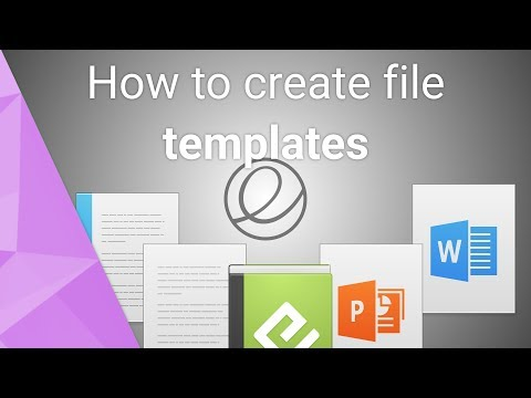 How to create quick file templates on elementary OS