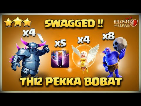 Most Powerful Attack Strategy Th12 Pekka BoBat - Best Th12 3 star attack Strategy Clash Of Clans Coc