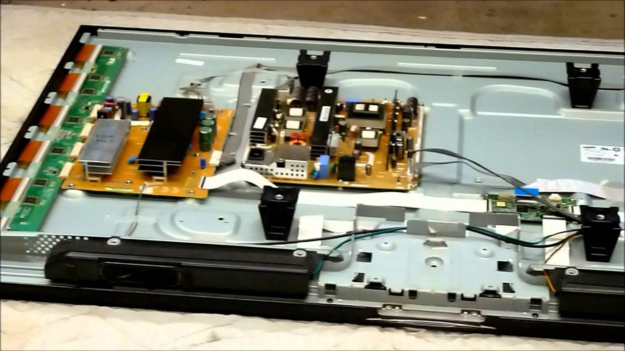 Samsung PN50C450 with a bad Plasma Panel Shows how to replace the Plasma Panel  YouTube