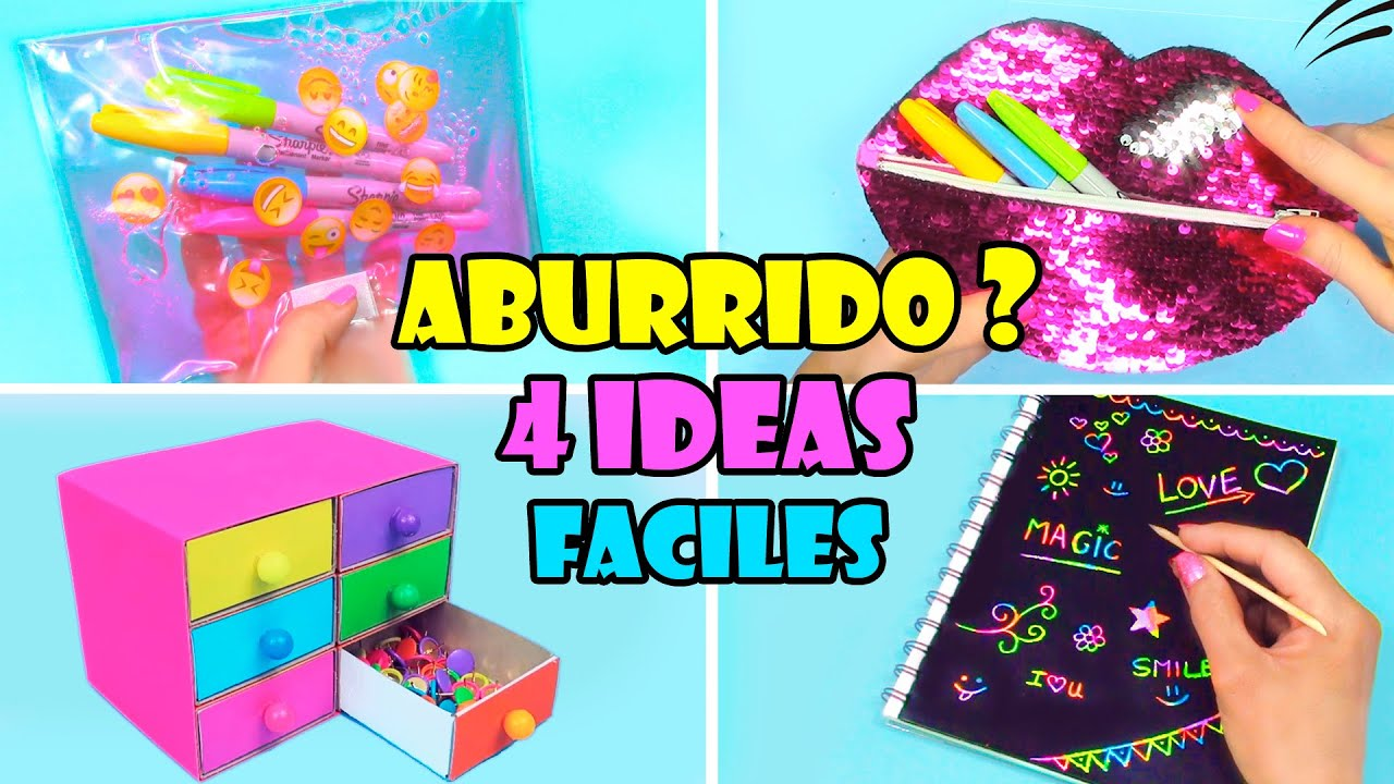 4 Ideas de Manualidades Cuando estás Aburrido!