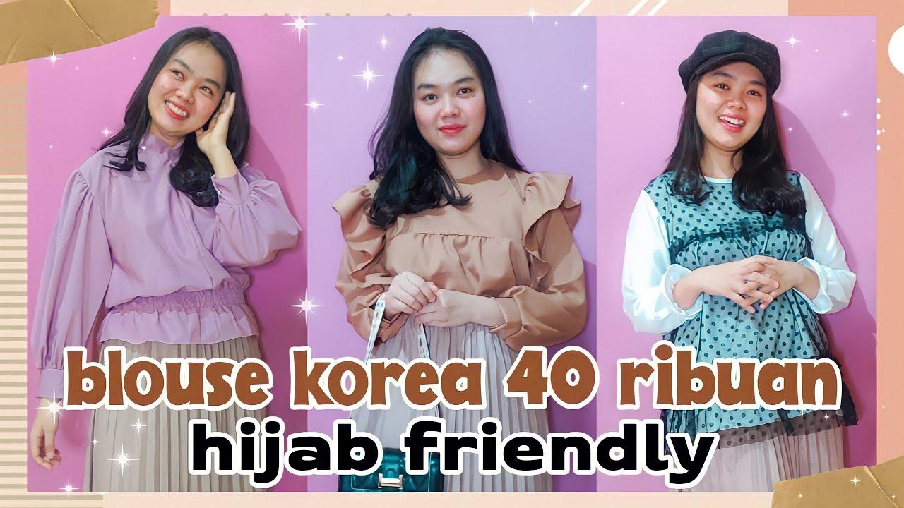 shopee haul blouse korea 40 ribuan termurah + try on