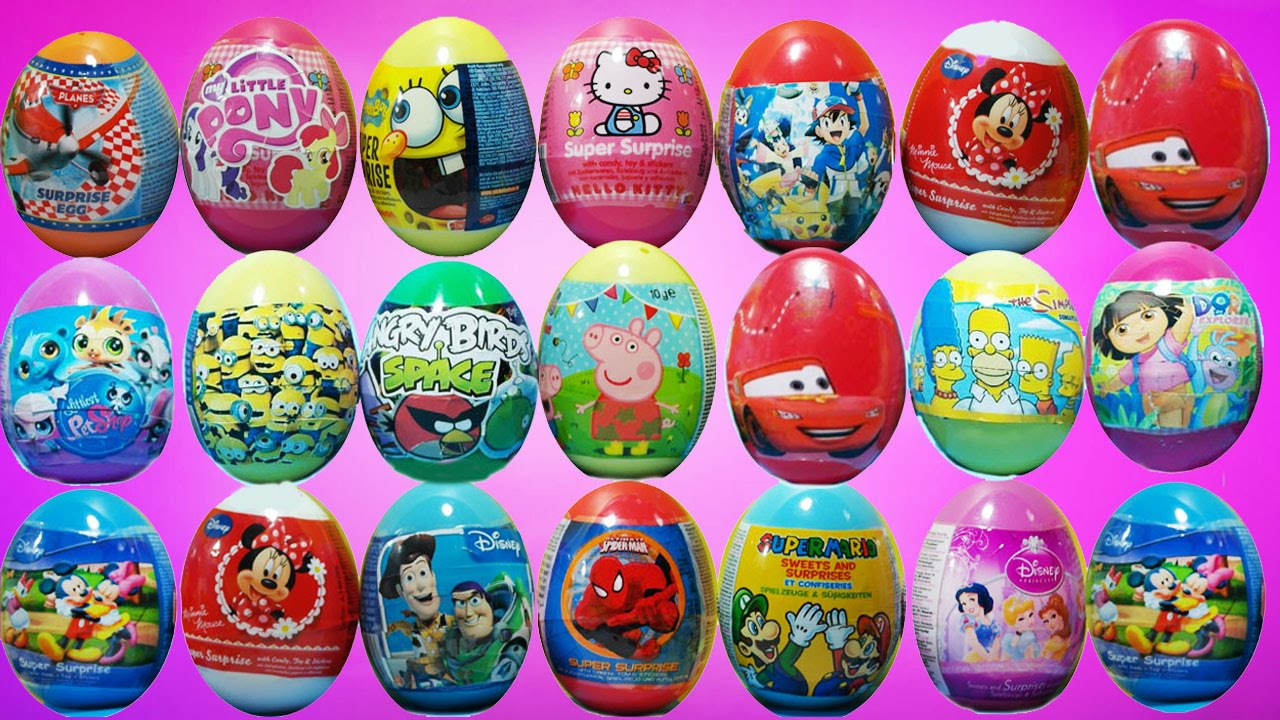 100 Surprise Eggs - Peppa Pig,Toy Story and more surprise eggs