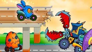 Машина ест машину 3 пасхальная версия - Рэббистер видео игра! #игровой мультфильм