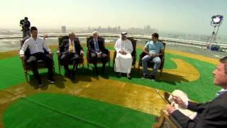 Federer, Djokovic Visit Burj Al Arab