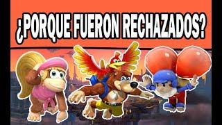 Los personajes rechazados en cada Super Smash Bros