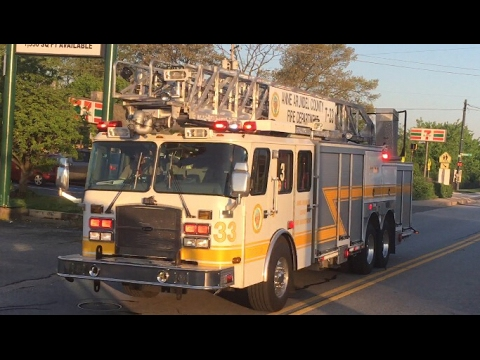 Anne Arundel County, MD Engine 181 And Truck 33 responding