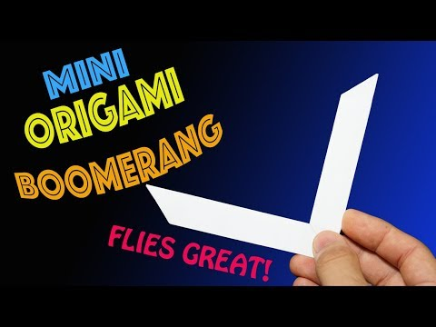 How to Make a Mini Origami Boomerang- Rob's World
