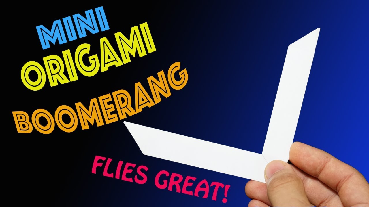 How to Make a Mini Origami Boomerang- Rob's World - YouTube - photo#13