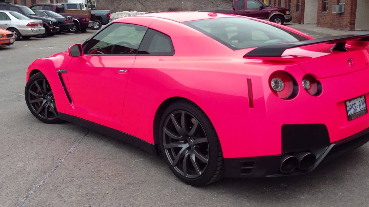 Pink Sports Car Wallpaper