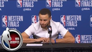 [FULL] Stephen Curry after Game 2 loss to Rockets: 'I'm feeling great' physically   NBA on ESPN