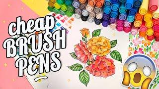 STA Aquarelle Brush Pens Review 80 set 👉 Cheap Watercolor Markers