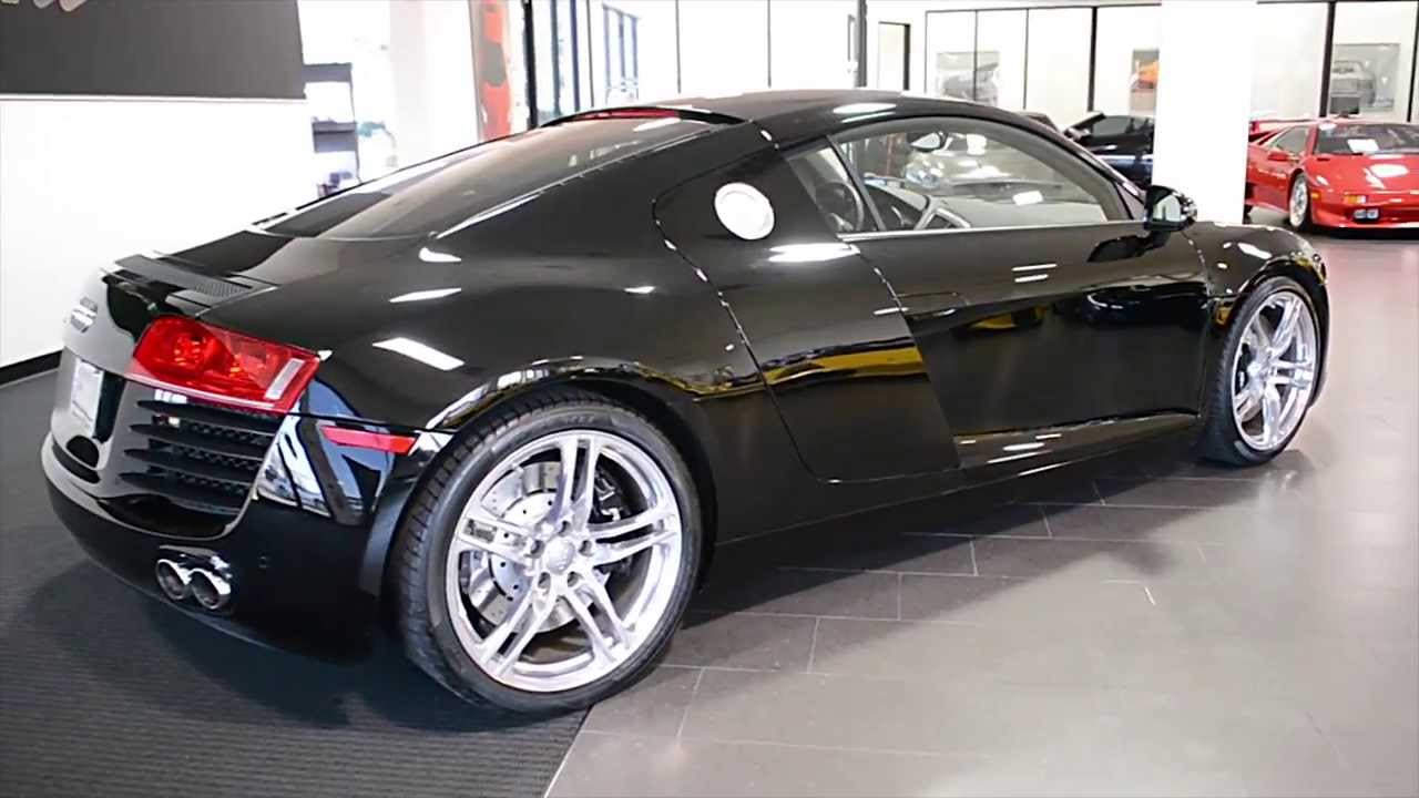 2009 audi r8 v8 gloss black lc272 youtube. Black Bedroom Furniture Sets. Home Design Ideas