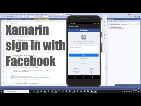 Xamarin Forms : Sign In With Facebook