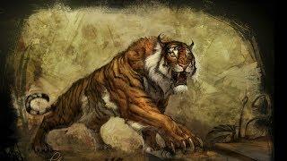 Доисторический мир Древние животные Саблезубый тигр HD