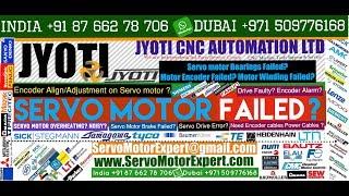 Jyoti Machine CNC Controller Repair, Siemens servo motor encoder problem, servo drive failure cause