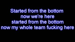 Repeat youtube video Drake - Started From The Bottom LYRICS [HQ]
