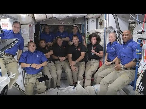 Four astronauts on Elon Musk's SpaceX capsule dock at International Space Station - euronews (in English)