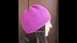 вязание шапочки спицами тканым узором