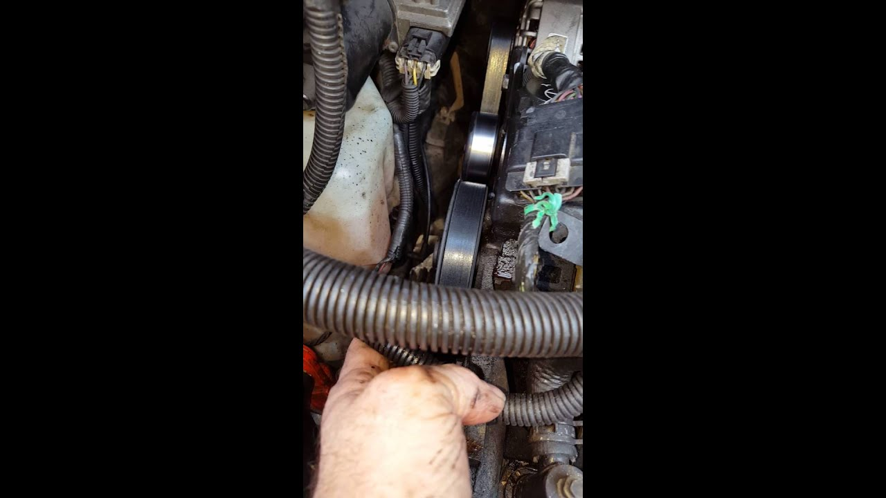 replacing a alternator in a 2003 buick rendezvous