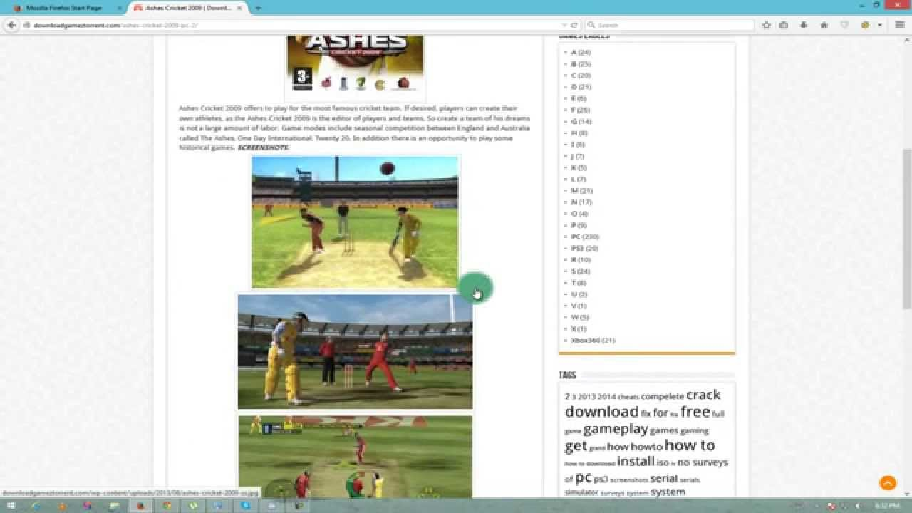 ashes cricket 2009 pc crack free download