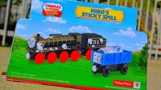 HIRO'S STICKY SPILL Thomas & Friends Wooden Toy Train Railway By Fisher Price Mattel