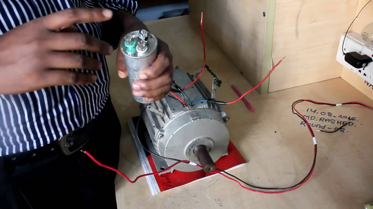 single phase induction motor motor connection motor controlling diagram practical how to connect [ 1280 x 720 Pixel ]
