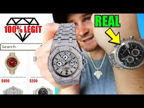 I Bought The CHEAPEST, REAL Iced Out DIAMOND Watch ANYONE CAN AFFORED!!