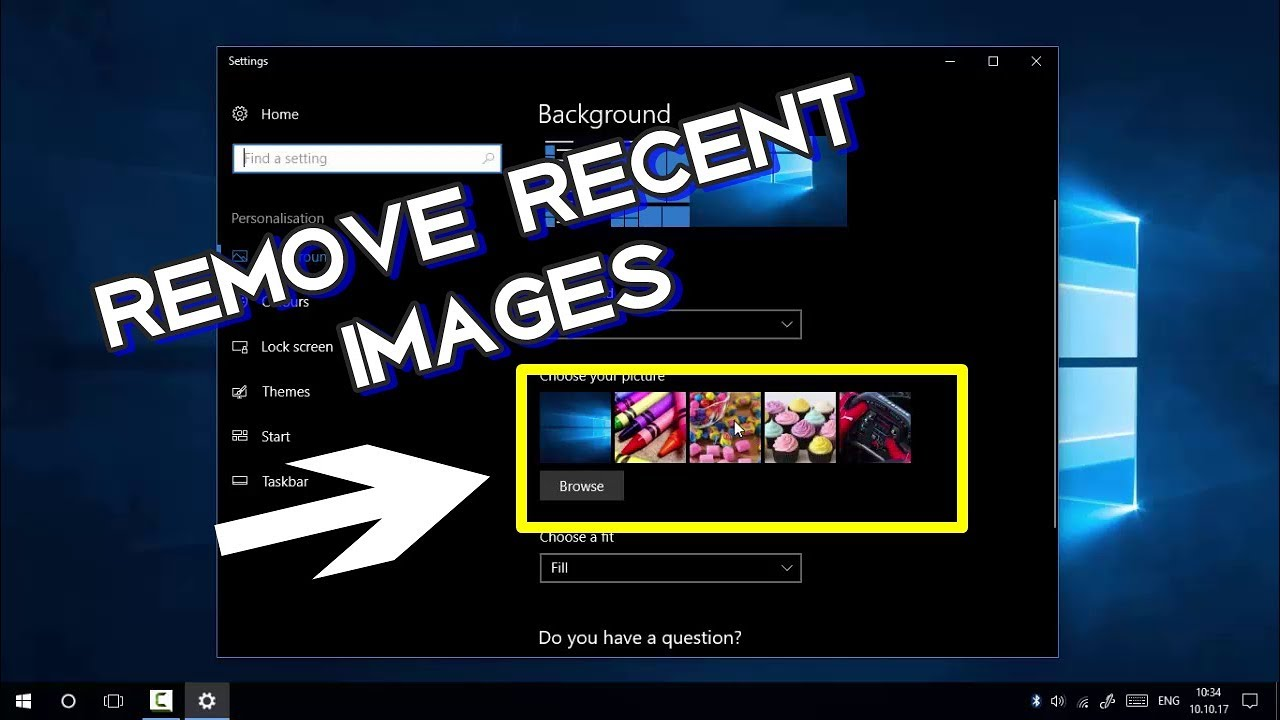 Remove Recently Used Images In Desktop Background History Windows 10 Tips And Tricks Youtube