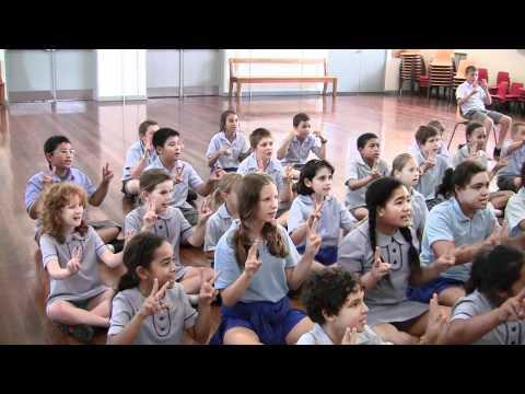 Matraville choir singing Anzac Song using Sign Language