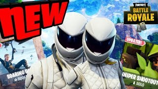 *NEW* WHITEOUT & OVERTAKER SKINS NEW SOARING 50S & SNIPERSHOOTOUT MODES FORTNITE BATTLE ROYALE