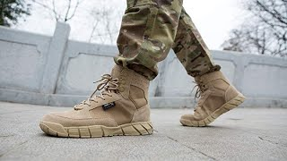FREE SOLDIER Men's 6 inch Lightweight Boots Tactical Military Urban Desert Tan Boots for Hiking