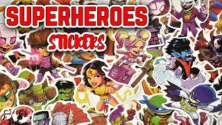 50 Marvel Superheroes Sticker Bomb Stickers From AliExpress Unboxing & Review