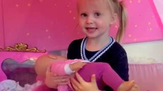 Кукла Беби Бон Катя.играем с пупсиком.Катя и Эльвира Мамы и Дочки  DOLL BABY BORN KIDS