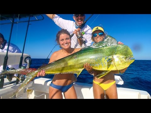 Florida Keys Mahi Fishing & She Caught A MONSTER!