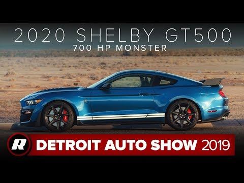 2020 Ford Mustang Shelby GT500 lights up our hearts with 700+ horsepower | Detroit 2019