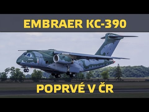 Embraer KC-390 first landing in Czech Republic (www.airzone.tv)