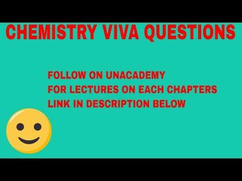 VERY IMPORTANT VIVA QUESTION FOR CHEMISTRY CLASS 12
