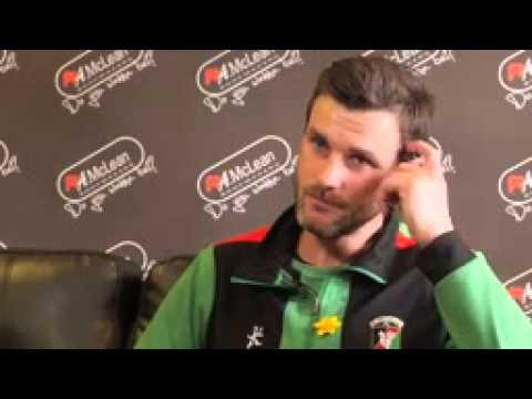 Glentoran v Portadown Irish Cup Final ~ Elliot Morris Interview