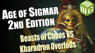 Beasts of Chaos vs Kharadron Overlords Age of Sigmar Battle Report War of the Realms Ep 47