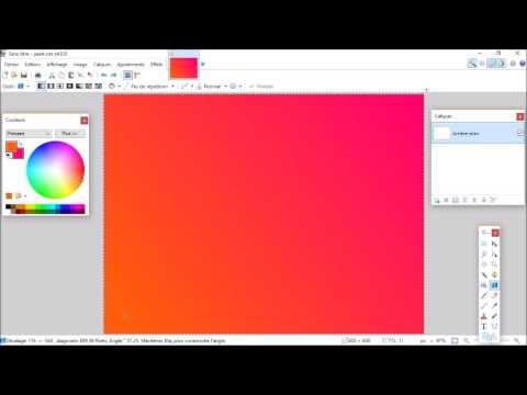 comment faire un degrade sur paint net youtube. Black Bedroom Furniture Sets. Home Design Ideas