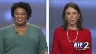 Stacey Abrams, Stacey Evans have a heated exchange about Abrams' business dealings with Repulicans
