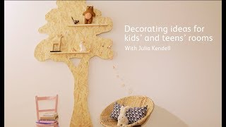 How-to create a tree bookshelf for a child's bedroom