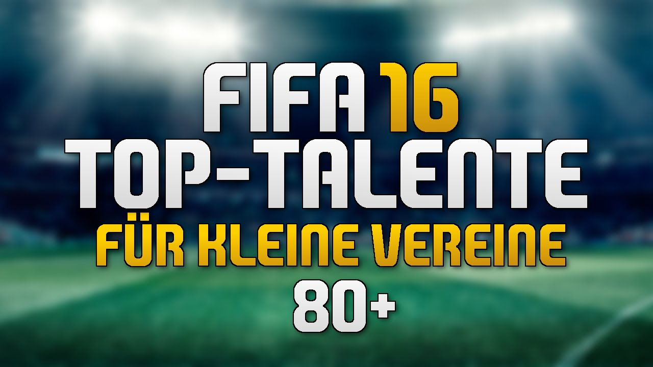 fifa 16 top talente f r kleine vereine youtube. Black Bedroom Furniture Sets. Home Design Ideas