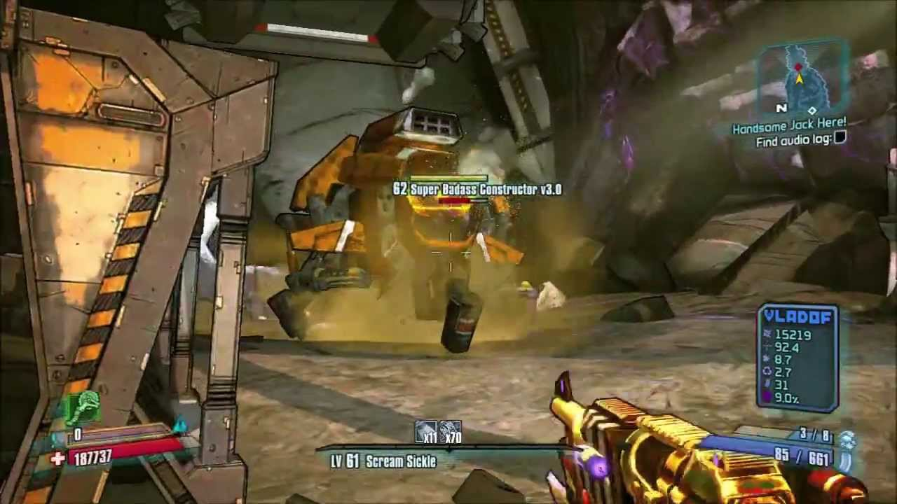 Borderlands 2 modded 1000 0000 damage guns spotlight 4 ...