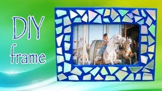 Diy Room Decor ❤ Make A Mosaic Frame With Old Cds!