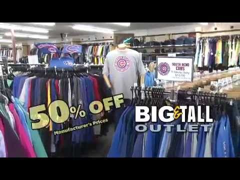 About Big and Tall Outlet inerloadsr5s.gq is the Internet presence of Big & Tall Outlet, located in Elkhart, Indiana. This website has only a fraction of what we carry. We have a 9, square foot showroom with racks and racks of clothing that are too assorted to put on our website.9/10(3).